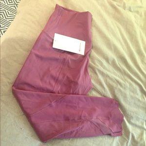 NWT lululemon pants. Size 12 pink
